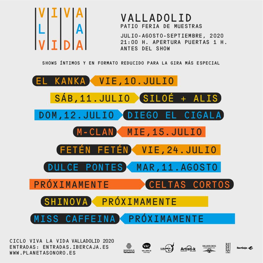 Cartel de conciertos Viva la Vida 2020
