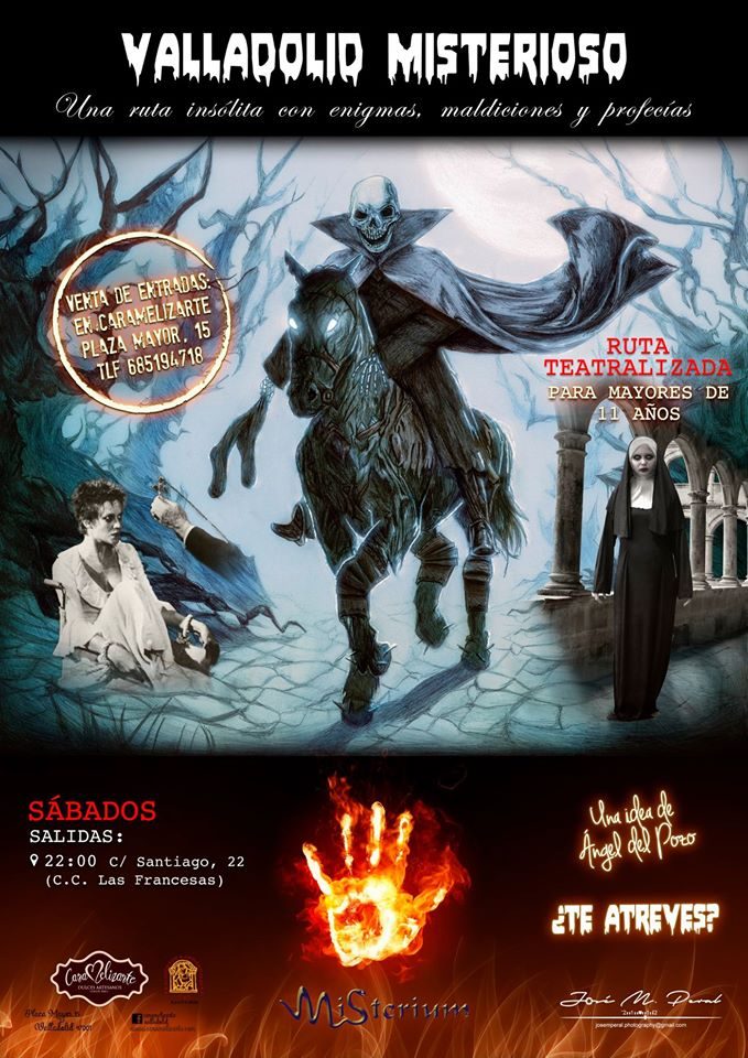 Cartel de la ruta Valladolid misterioso