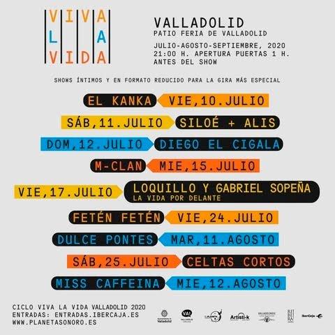 Cartel de conciertos de Viva la vida en Valladolid