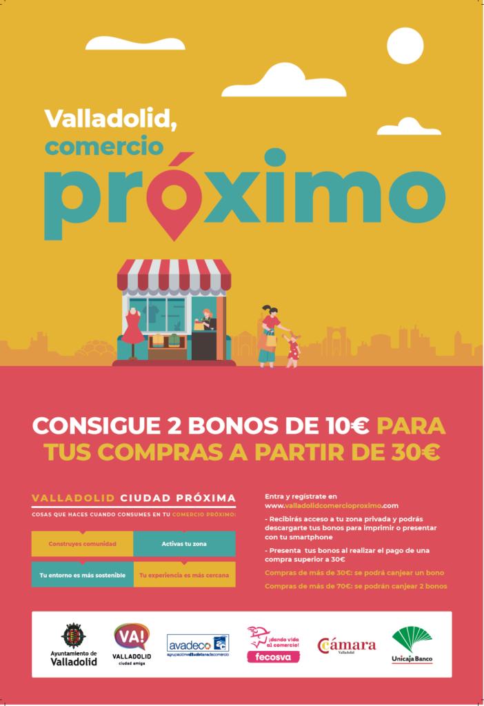 bonos de compra para el pequeño comercio de Valladolid