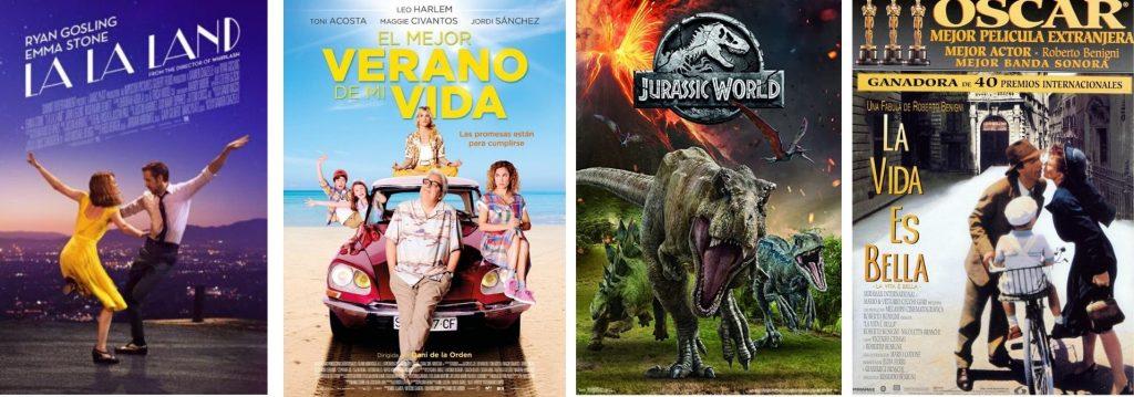 Carteles de películas que proyectará el autocine de Valladolid