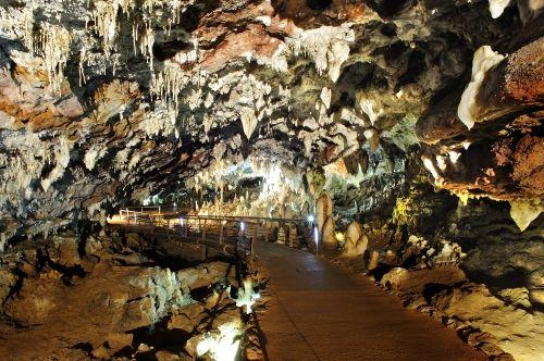 Interior de la cueva El Soplao