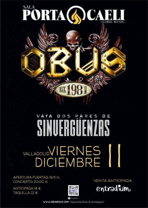 Cartel del concierto de obús en Valladolid