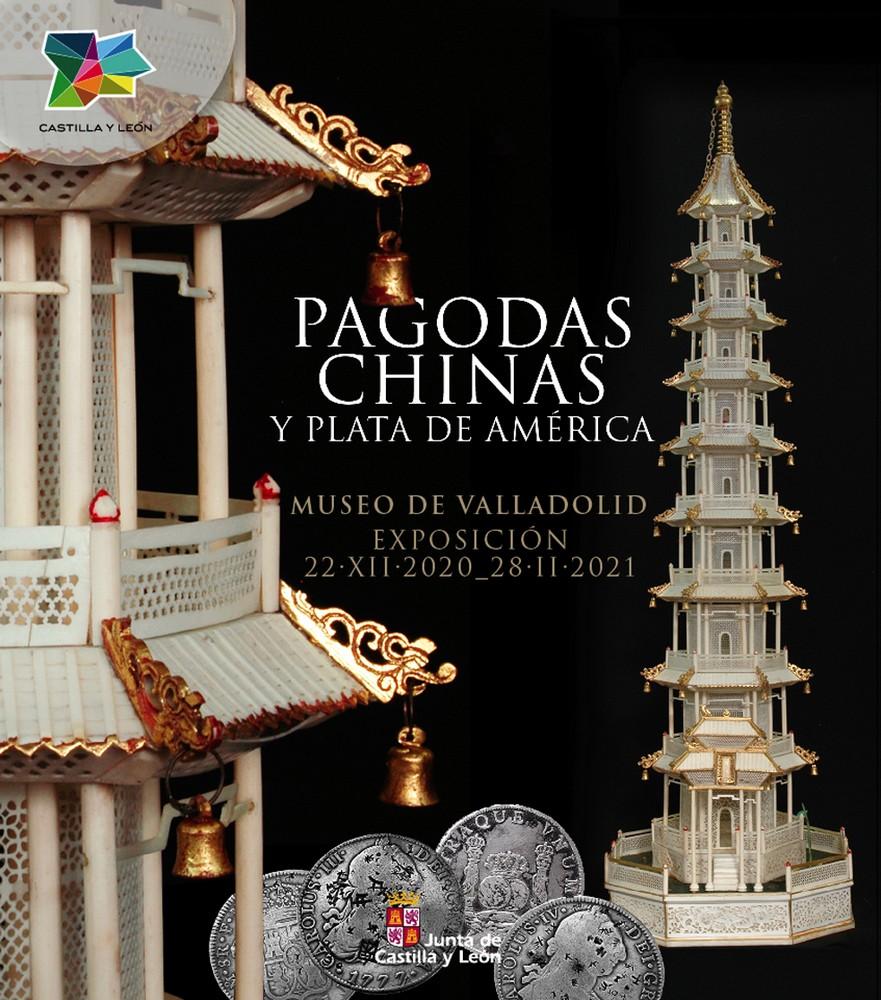 cartel de la exposición pagodas chinas y plata de América
