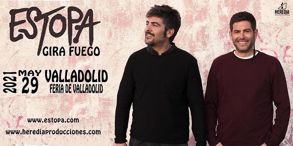 Cartel del concierto de estopa en Valladolid