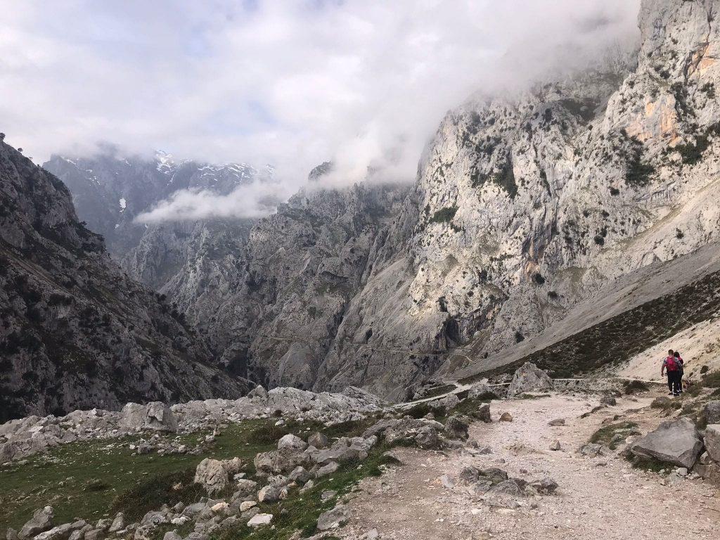 Imagen de la montaña en la ruta del Cares
