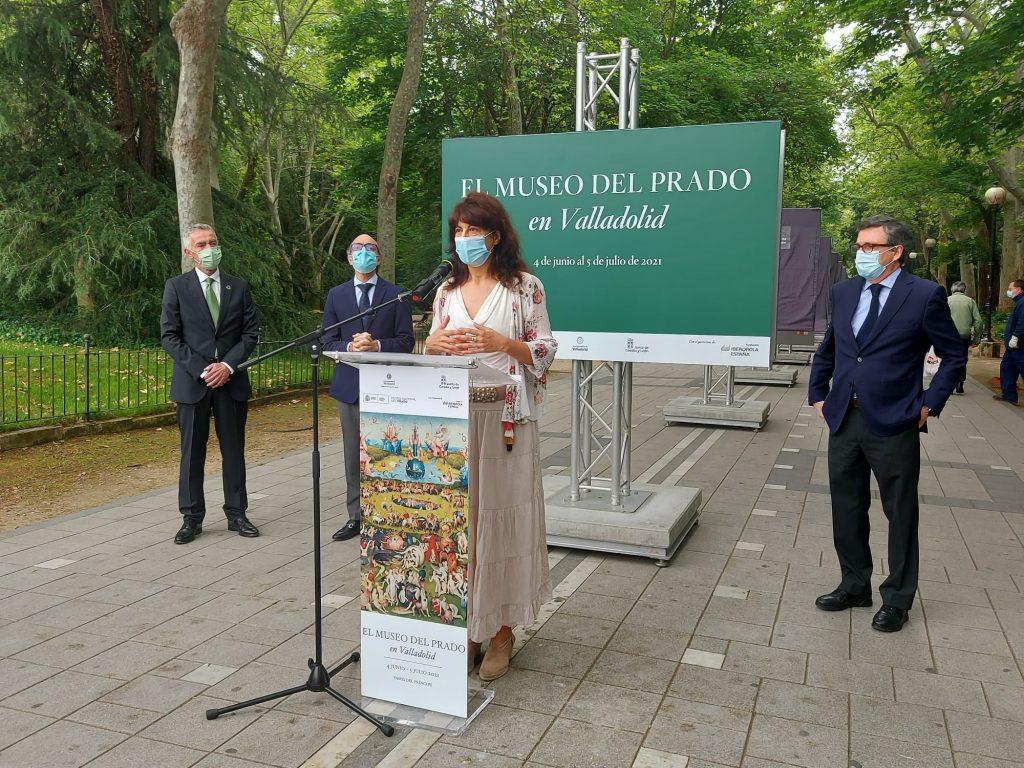 Imagen de la inauguración del museo del prado en las calles de Valladolid