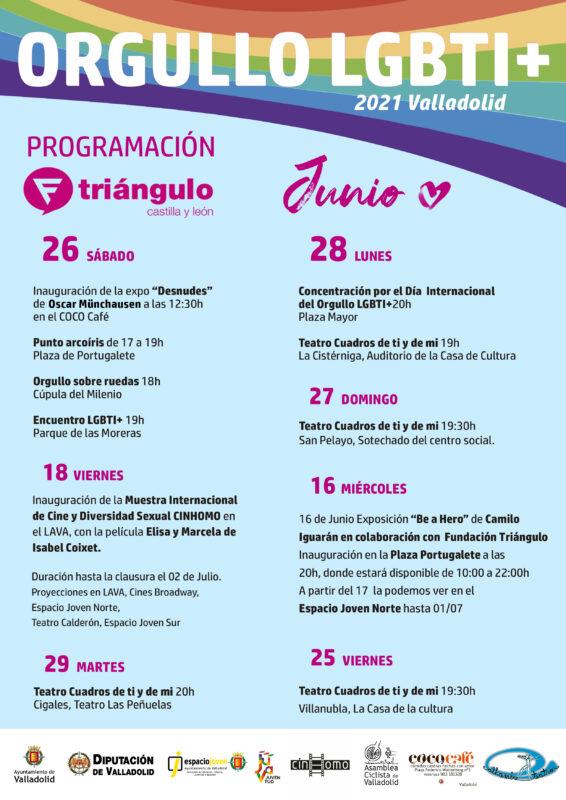Programa actos Orgullo Valladolid 2021