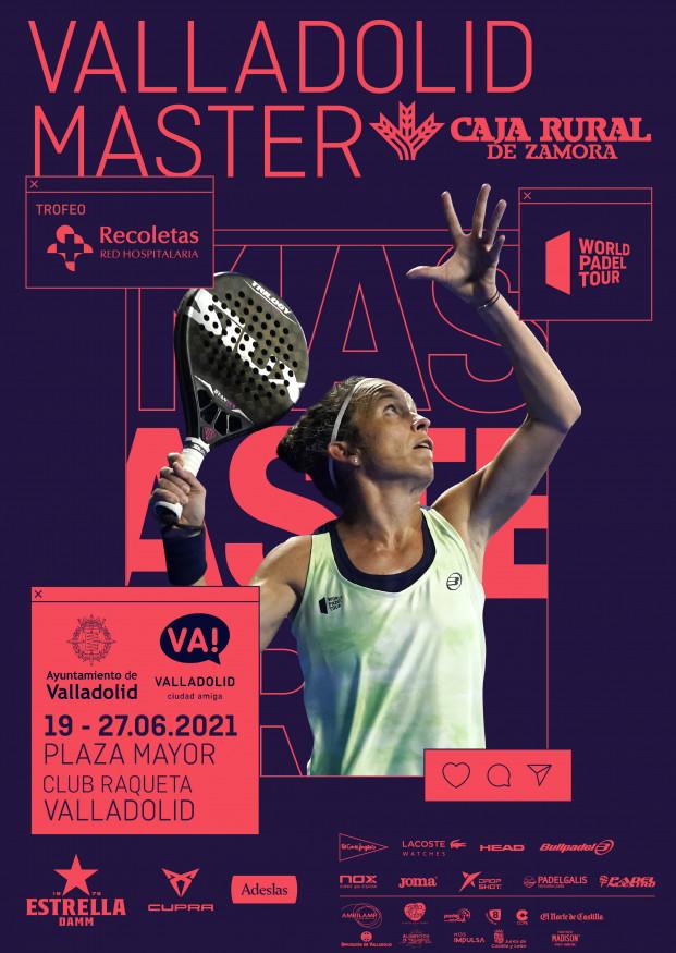 Cartel del master de Valladolid del World Pádel Tour