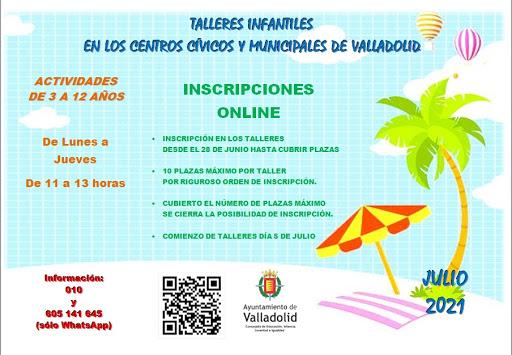 Talleres infantiles en centros cívicos de Valladolid