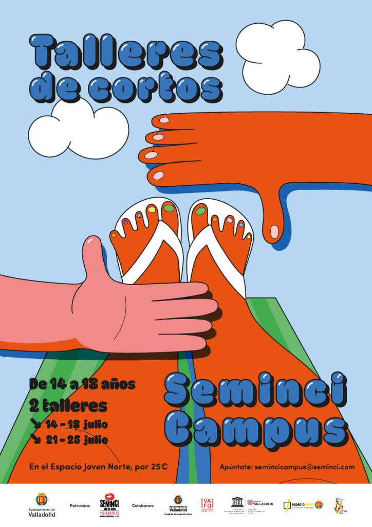 cartel del taller infantil en Valladolid Seminci Campus