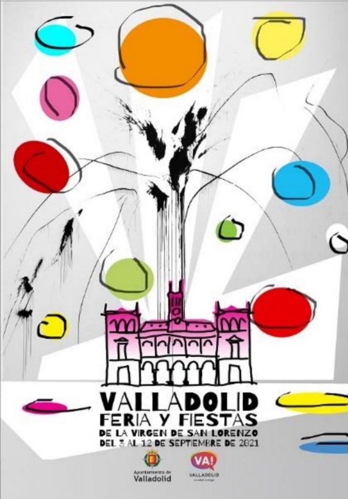 cartel del programa de fiestas de Valladolid 2021